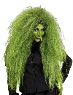 Wilde Hexen-Perücke Halloween-Perücke für Damen grün