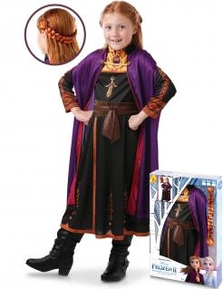 Anna-Kostüm für Mädchen mit Zopf Frozen 2™ Faschingskostüm bunt