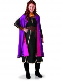 Frozen 2™ Anna-Kostüm für Damen Faschingskostüm schwarz-violett