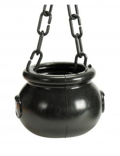 Hexenkessel Zauberer-Zubehör Halloween schwarz 12 cm