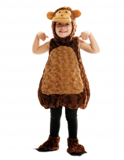 Ärmelloses Affen-Kostüm für Kinder Tierkostüm braun