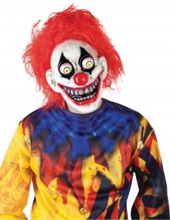 Horror-Clown Maske aus Kunststoff Kostüm-Accessoire für Erwachsene
