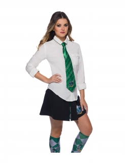 Slytherin™-Krawatte Harry Potter™-Accessoire grün-silber