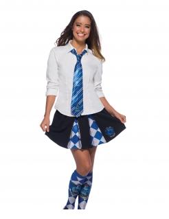 Ravenclaw™-Krawatte Harry Potter™-Accessoire blau-silber