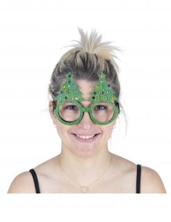 Stimmungsvolle Weihnachtsbaum-Brille für Erwachsene bunt