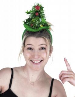 Tannenbaum-Hut lustiges Weihnachts-Accessoire grün-bunt