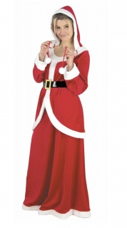 Weihnachtsfrau-Kostüm Weihnachts-Kostüm 3-teilig rot-weiss