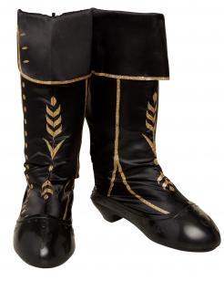 Anna-Kinderstiefel Frozen 2™-Kostümzubehör schwarz-goldfarben