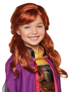 Anna-Perücke für Mädchen Frozen 2™ Karnevals-Accessoire rot