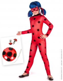 Ladybug™-Kostüm-Set für Mädchen Miraculous™-Set 5-teilig rot-schwarz