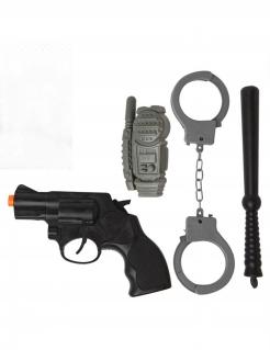 Polizei-Set Polizisten-Kit Accessoire-Set 4 teilig