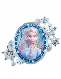 Frozen 2™-Luftballon Anna und Elsa wendbar Partydeko weiss-blau 76x66 cm