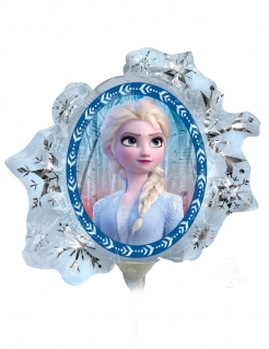 Frozen 2™-Aluminiumballon Anna und Elsa Disney™-Deko blau-silber