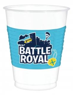 Battle Royale-Trinkbecher Partydeko Gaming 8 Stück blau-weiss 473 ml