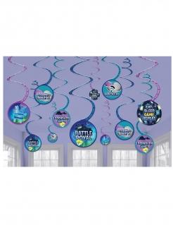 Battle Royale-Hängedeko Partydeko 12 Stück blau-violett 13 cm