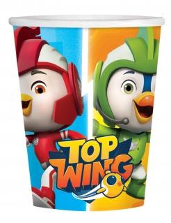 Top Wing™-Pappbecher 8 Stück bunt 250 ml