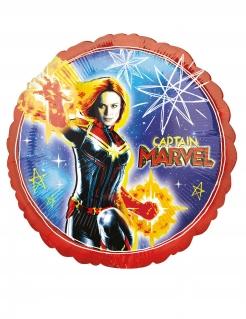 Captain Marvel™-Luftballon Partydeko runf bunt 43 cm
