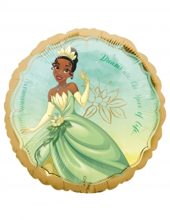 Tiana-Luftballon Disney™-Prinzessin Partydeko gold-grün 43 cm