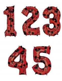 Mickey-Maus™-Ballon verschiedene Zahlen wählbar Disney™-Partydeko rot 66 cm