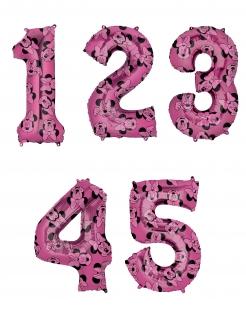 Minnie Maus™-Zahlenluftballon Zahlen 1-5 Partydeko pink 66 cm