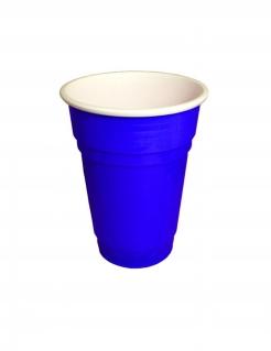 Partybecher aus Kunsstoff USA blau 250 ml