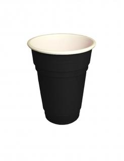 Kleine Partybecher aus Kunsstoff 20 Stück schwarz 250 ml