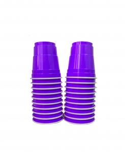 Einweg-Schnapsgläser aus Kunsstoff 20 Stück lila 40 ml