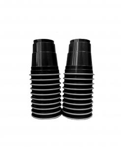 Einweg-Schnapsgläser aus Kunsstoff 20 Stück schwarz 40 ml