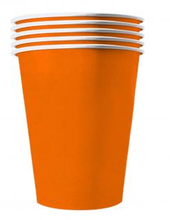 Recycelbare Pappbecher orange 20 Stück 530 ml