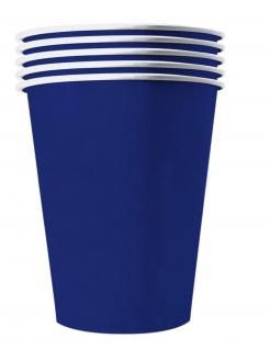 Recycelbare Pappbecher USA-Partyzubehör blau 20 Stück 530 ml