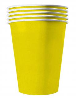Recycelbare Pappbecher gelb 20 Stück 530 ml
