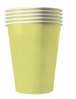 Amerikanische Trinkbecher gross Partydeko 20 Stück pastellgelb 530 ml