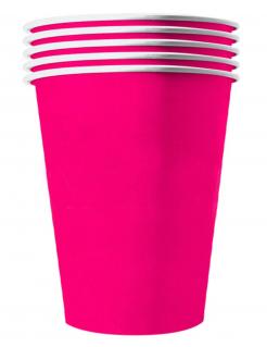 Recycelbare Pappbecher 20 Stück pink 530 ml