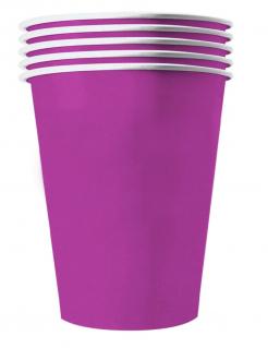 Amerikanische Trinkbecher groß Partydeko 20 Stück violett 530 ml
