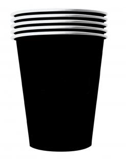 Amerikanische Trinkbecher gross Partydeko 20 Stück schwarz 530 ml