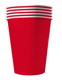 Amerikanische Trinkbecher Partydeko 20 Stück rot 250 ml