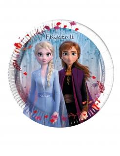 Frozen 2™-Partyteller für Kinder Tischdeko 8 Stück bunt 20 cm