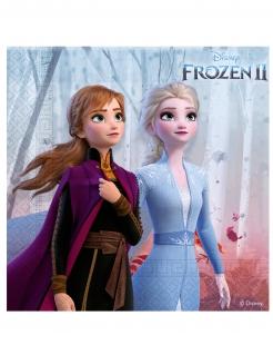 Frozen 2™-Servietten Anna und Elsa Partydeko 16 Stück bunt 25x25 cm
