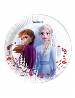 Frozen 2™-Teller Partydeko 8 Stück bunt 23 cm