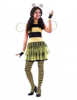 Süßes Bienenkostüm für Damen schwarz-gelb