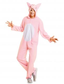 Schwein-Kostüm Overall-Kostüm rosa