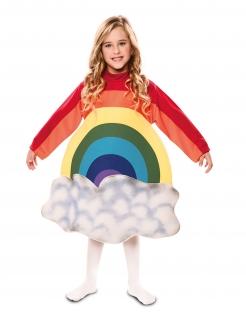 Fröhliches Regenbogenkostüm für Mädchen bunt