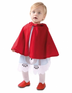 Rotkäppchen-Kostüm für Babys und Kleinkinder Kleinkinder-Karneval-Kostüm rot-weiss-grau