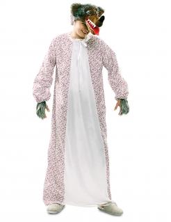 Grosser-Böser-Wolf-Kostüm Großmutter-Kostüm Märchen-Kostüm weiss-rot-braun