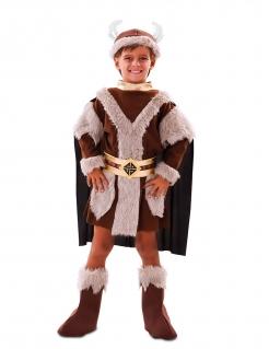 Wikinger-Kostüm für Jungen Faschingskostüm braun
