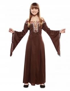 Mittelalter-Kostüm für Mädchen Faschingskostüm braun