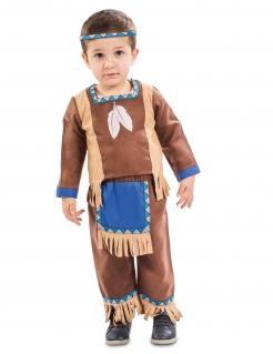 Kleinkinder-Indianer-Kostüm Karneval-Kostüm für Babys und Kleinkinder braun-blau
