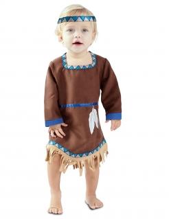 Indianer-Kostüm für Kinder Faschingskostüm braun-blau