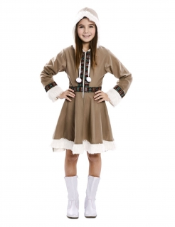 Eskimo-Kostüm für Mädchen Faschingskostüm braun