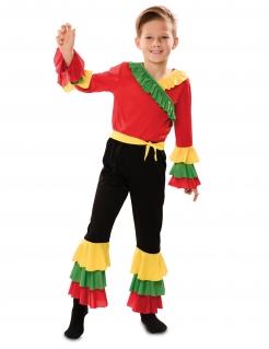 Leidenschaftlicher Rumba-Tänzer Kinderkostüm für Jungen bunt